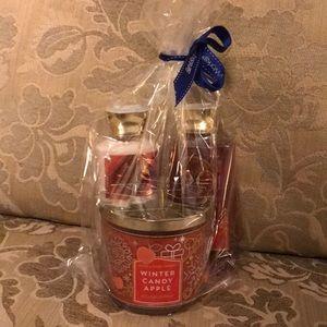 NWT Bath & Body Works winter candy apple gift set